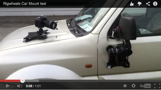 car mount test using rigwheels camera mounting equipment. Black Bedroom Furniture Sets. Home Design Ideas