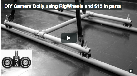 DIY Video Camera Dolly using RigWheels and $15 in parts