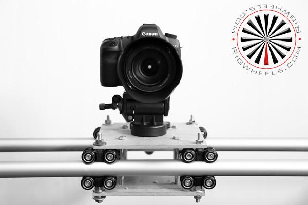 HDSLR camera slider on pipe