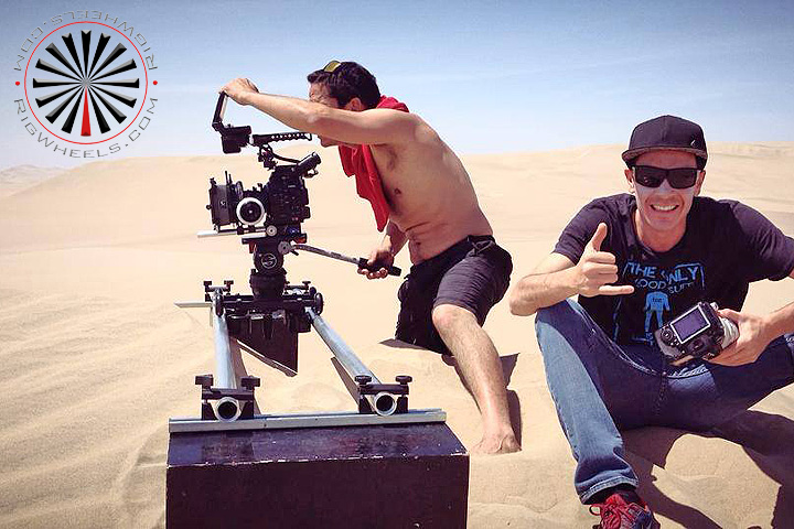 large professional camera slider outdoors